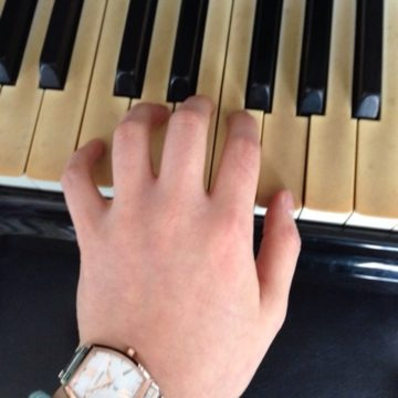 練習していて手が痛くなるの画像